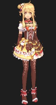 お菓子なチョコケーキドレス