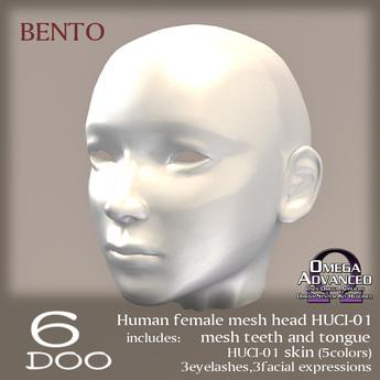 *6DOO* bento Human mesh head HUCI-01